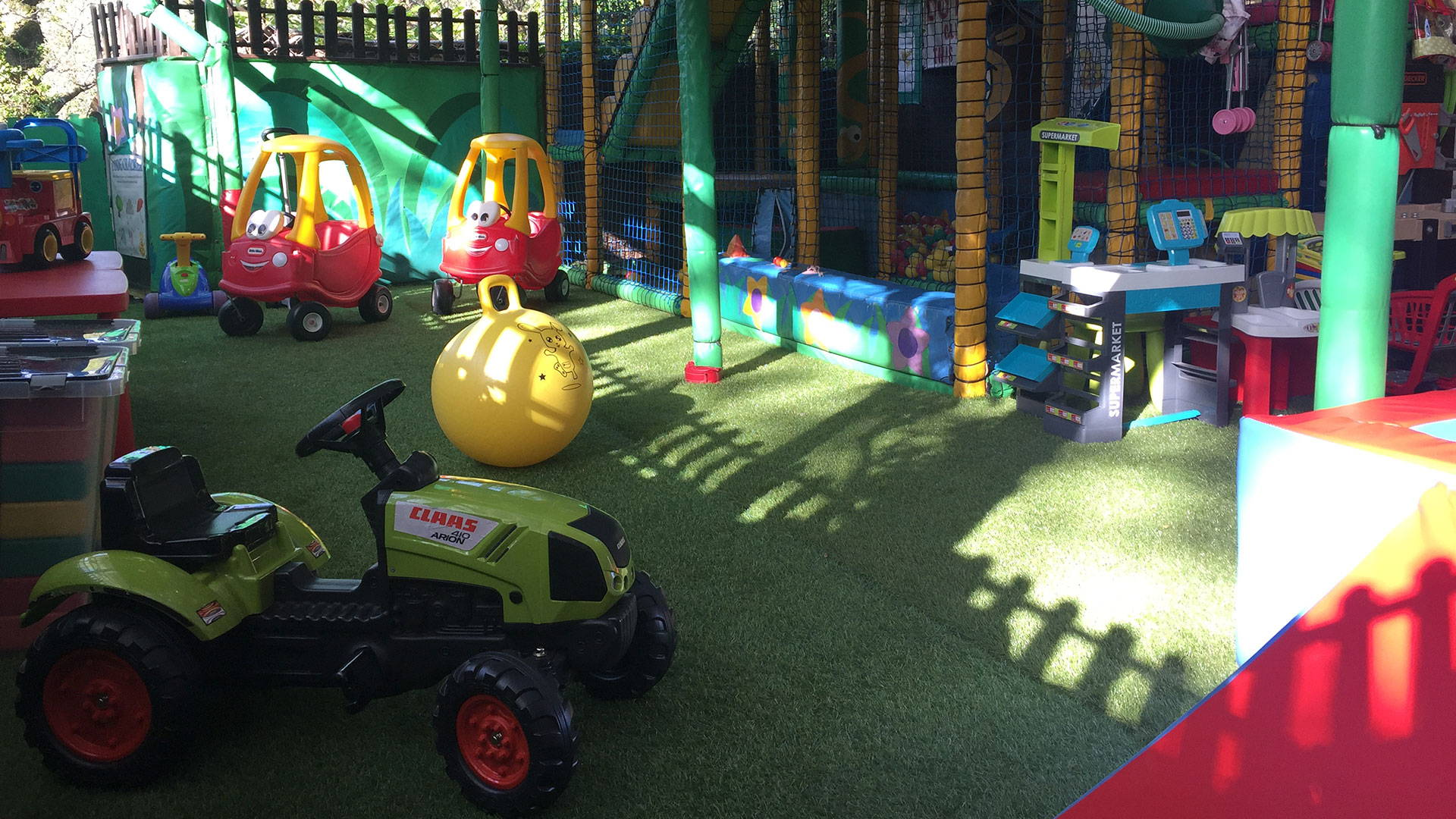 Soft play area in a child friendly gite in France